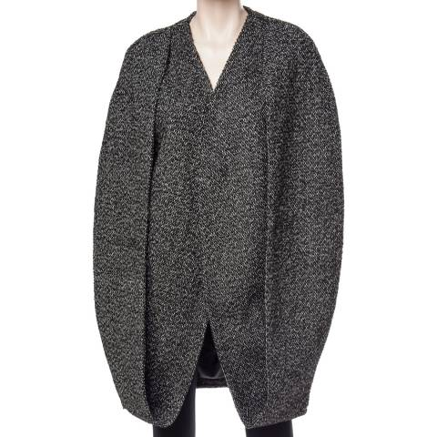 Leon Max Collection Black Metallic Tweed Cape