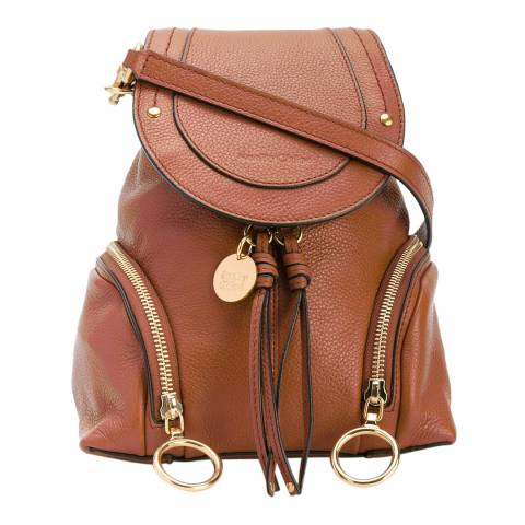 See by Chloe Tan Leather Polly Mini Backpack
