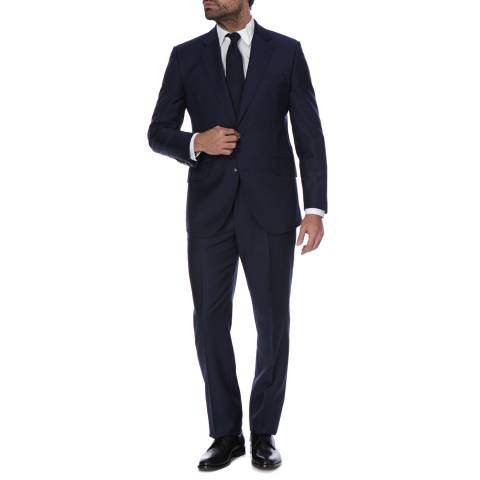 Hackett London Navy Classic Fit Wool Suit