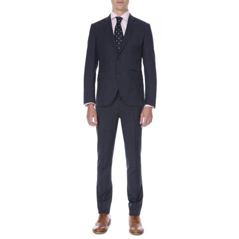 Hackett London Navy Micro Weave Tailored Fit Wool Suit