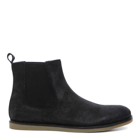 Original Penguin Black Wax Suede London Boots