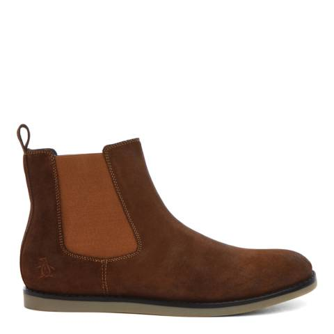 Original Penguin Tan Wax Suede London Boots
