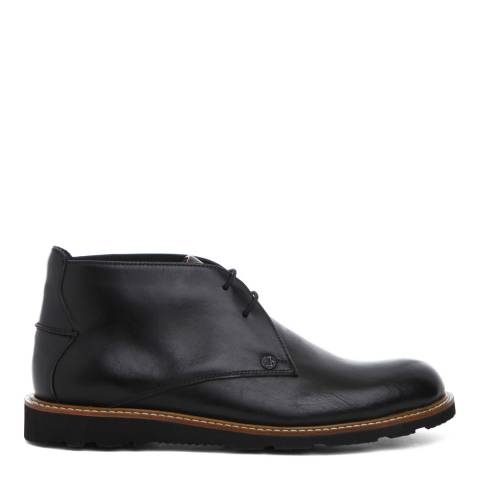 Original Penguin Black Leather Camden Lace Up Boots