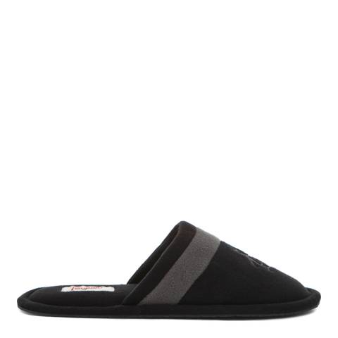 Original Penguin Black And Grey Relax Slippers