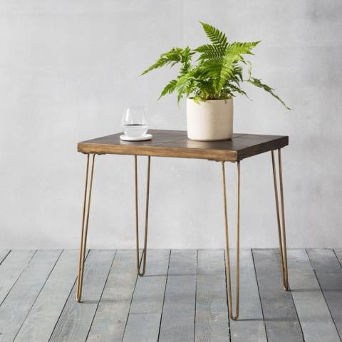 Gallery Pompeii Metallic Ceramic Side Table