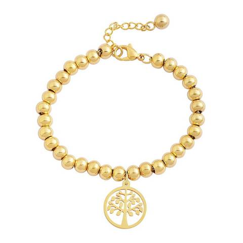 Chloe Collection by Liv Oliver Gold Tree Charm Bracelet
