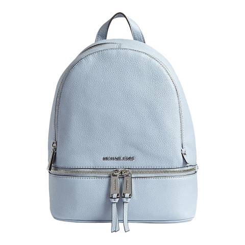 Michael Kors Pale Blue Rhea Leather Backpack