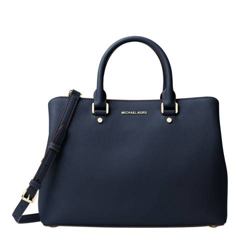 Michael Kors Navy Savannah Leather Handbag