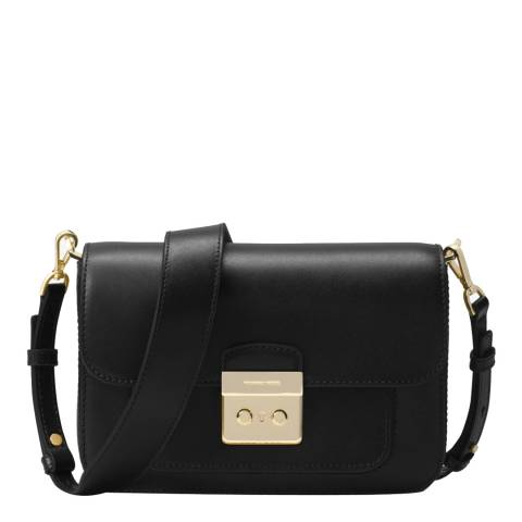 Michael Kors Black Sloan Editor Leather Shoulder Bag