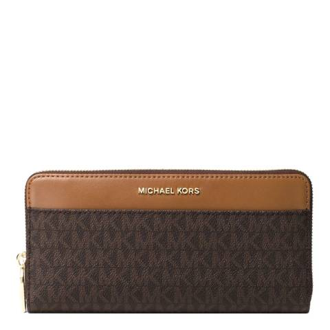 Michael Kors Brown Mercer Logo Continental Wallet