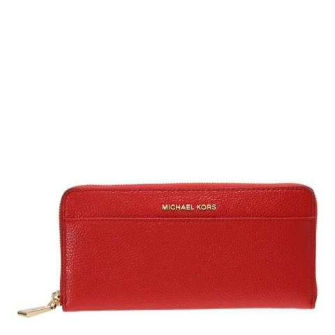 Michael Kors Red Jet Set Leather Continental Wallet