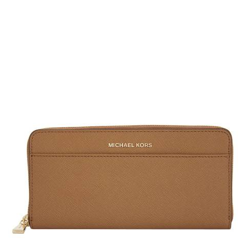 Michael Kors Tan Jet Set Leather Continental Wallet