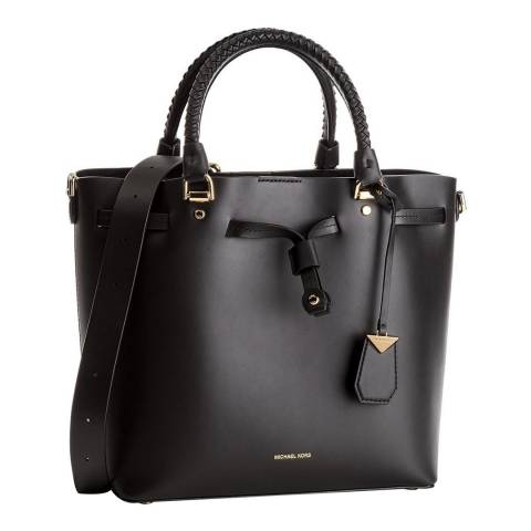 Michael Kors Black Blakely Leather Bucket Bag