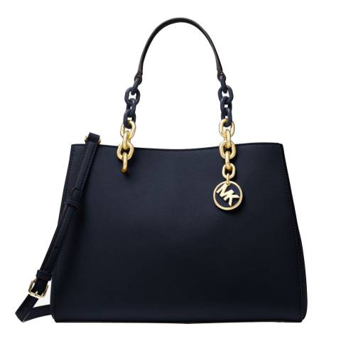 Michael Kors Black Cynthia Leather Handbag