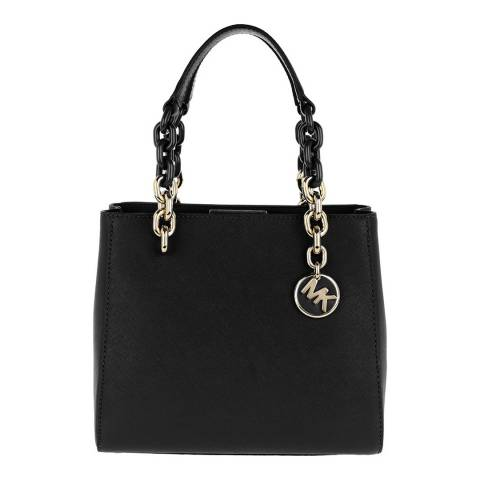 Michael Kors Black Cynthia Leather Handbag