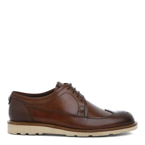 Original Penguin Dark Tan Leather Camden Brogues