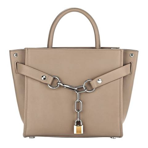 Alexander Wang Beige Leather Large Attica Chain Satchel