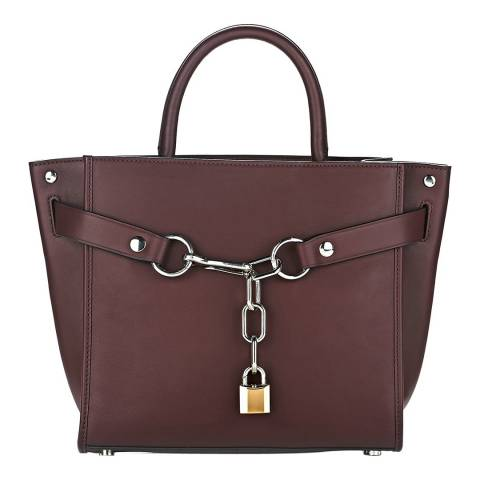 Alexander Wang Burgundy Large Attica Leather Bag