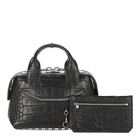 Alexander Wang Black Small Croc Effect Rogue Leather Bag