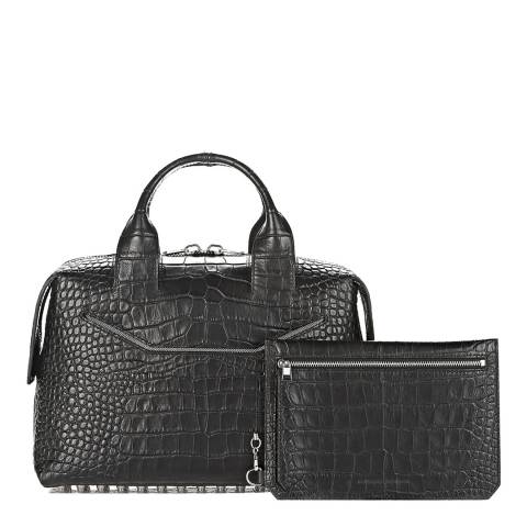 Alexander Wang Black leather Large Croc Effect Rogue Bag