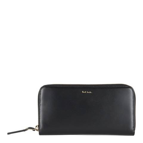 PAUL SMITH Black Leather Zip Around Wallet