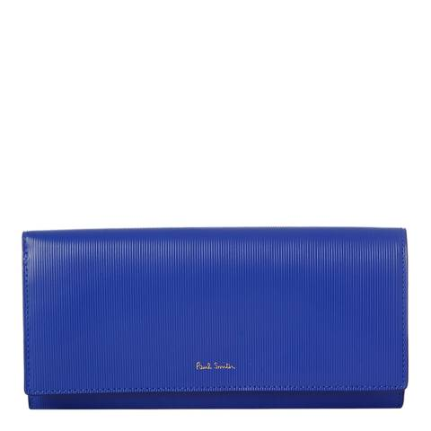 PAUL SMITH Navy Leather Tri Fold Purse