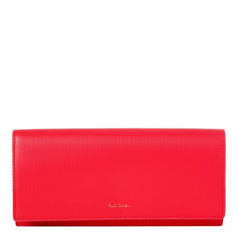 PAUL SMITH Pink Leather Tri Fold Purse