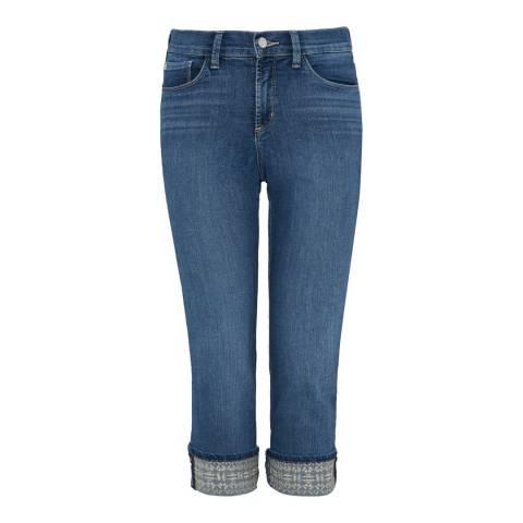 NYDJ Mid Blue Dayla Capri Cotton Stretch Jeans