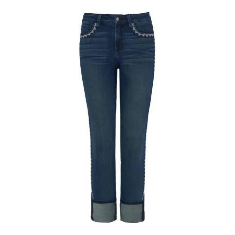 NYDJ Deep Blue Alina Wide Cuff Ankle Jeans