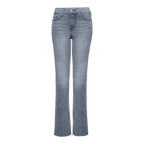 NYDJ Pearl Grey Billie Mini Bootcut Jeans