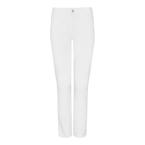 NYDJ White Alina Ankle Cotton Stretch Jeans
