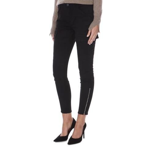 J Brand Black Houlihan Mid Rise Skinny Stretch Cargo Jeans