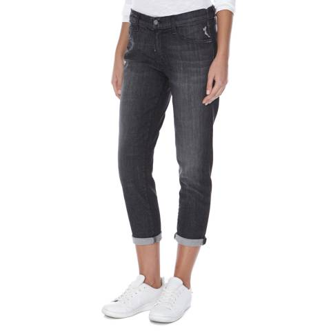 J Brand Grey Sadey Slim Straight Cotton Stretch Jeans