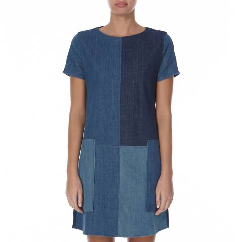 J Brand Rosemary Mix Luna Shift Denim Dress