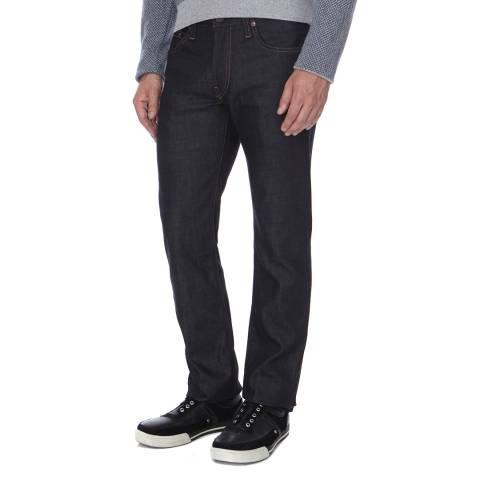 J Brand Dark Indigo Kane Slim Straight Jeans