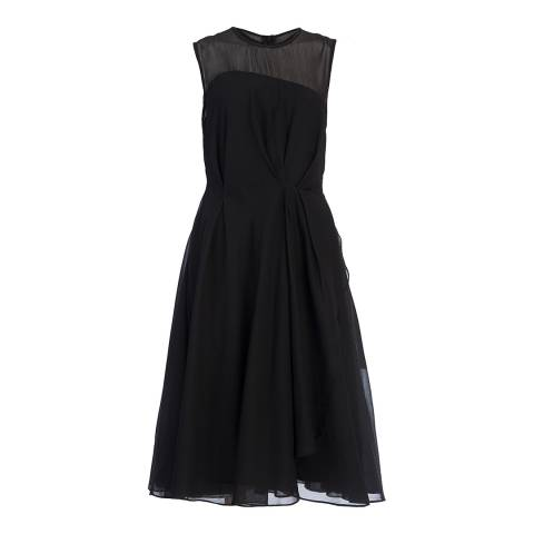 French Connection Black Winter Ray Chiffon Dress