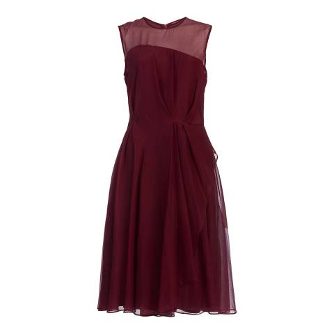 French Connection Zinfandel Winter Ray Chiffon Dress