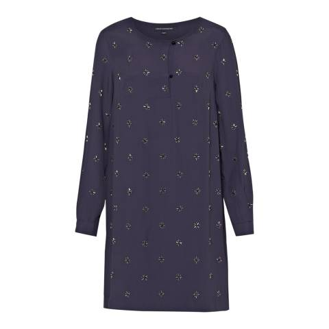 French Connection Navy Blue Milana Star Tunic Dress