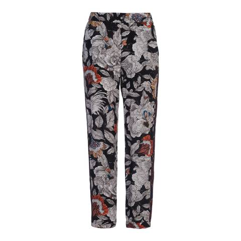 French Connection Black Multi Arabella Rose Drape Joggers