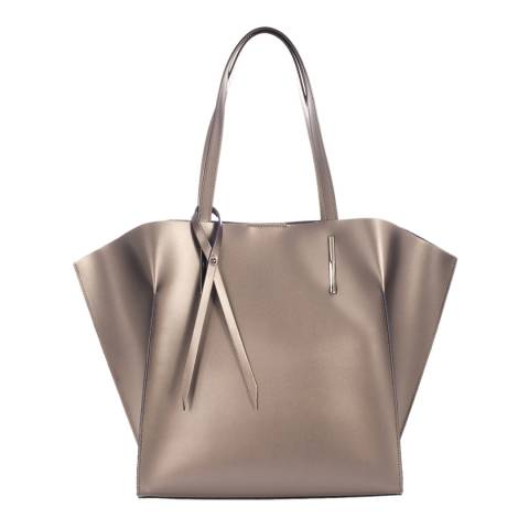 Giorgio Costa Bronze Metallic Leather Top Handle Bag