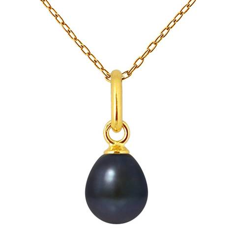 Mitzuko Black Pearl Drop Necklace