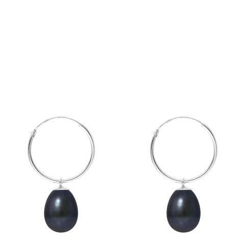 Mitzuko Black Pearl Hoop Earrings