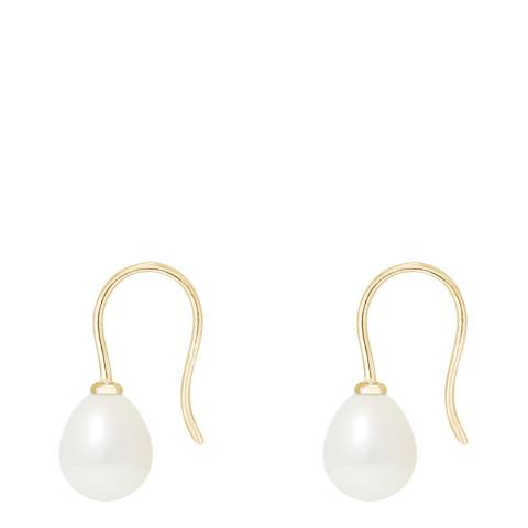 Mitzuko White Pearl Drop Earrings