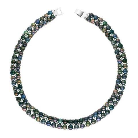 Mitzuko Black Double Pearl Necklace