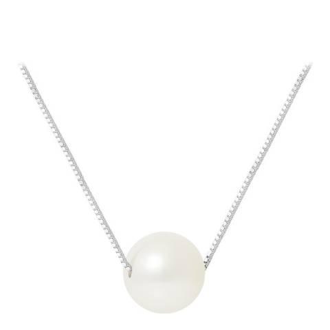 Mitzuko Silver/White Pearl Necklace