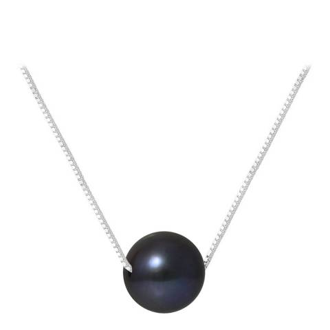 Mitzuko Black Single Pearl Necklace