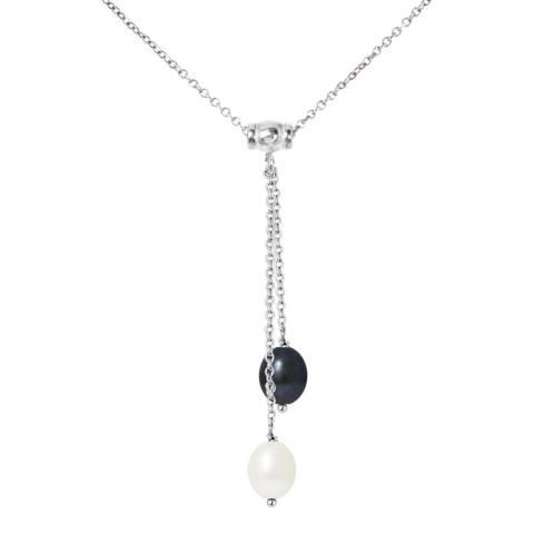Mitzuko Toi Moi White/Black Pearl Necklace