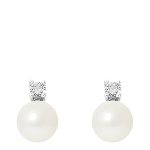 Mitzuko White Pearl Stud Earrings