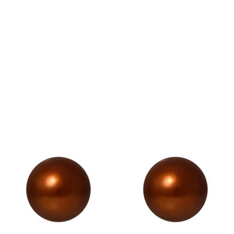 Mitzuko Chocolate Pearl Stud Earrings
