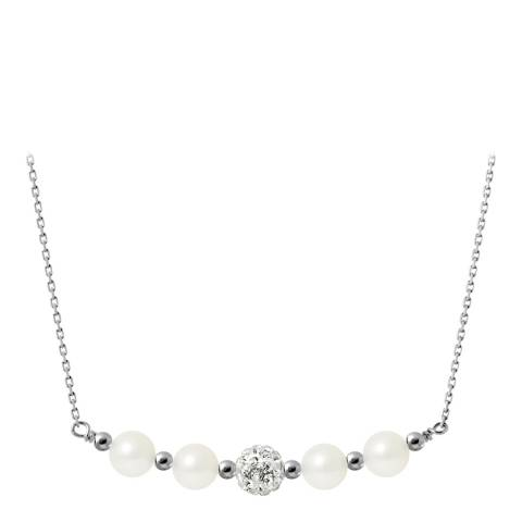 Mitzuko White Pearl/Crystal Necklace